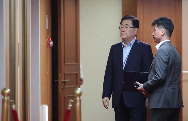 """정의용, 지소미아 결정 앞두고 이낙연 대면보고...""""NSC서 협의"""""""