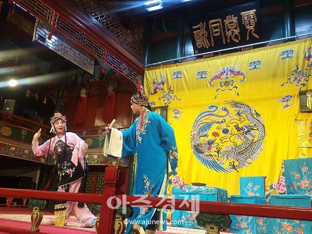 [중국포토] 베이징오페라 경극배우의 살아있는 연기