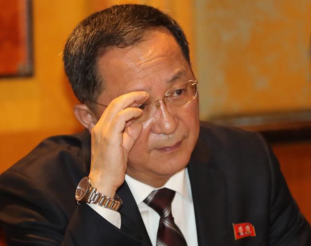 리용호 북한 외무상 제재로 맞서려고 한다면 오산…폼페이오는 훼방꾼