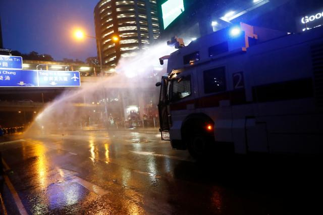 [포토] 홍콩시위 진압에 등장한 물대포