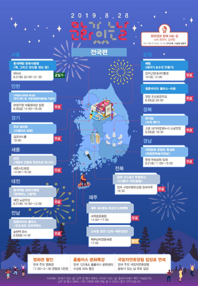 28일 '8월 문화가 있는 날' 주간 전국 2717개 문화행사
