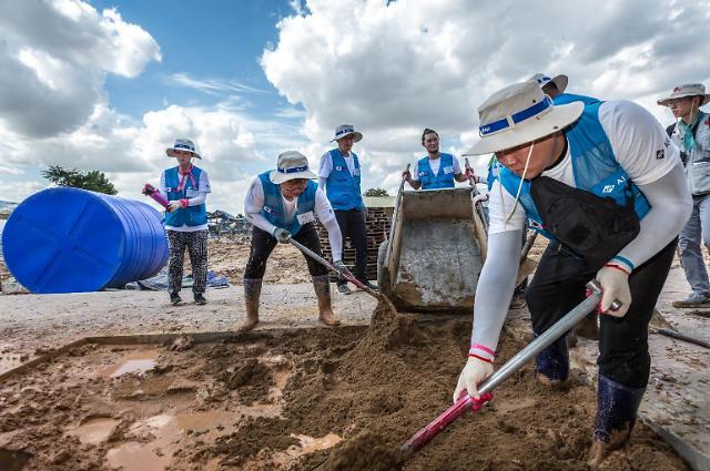 아주그룹, 캄보디아서 자원봉사... 13년 연속 글로벌 CSR 활동