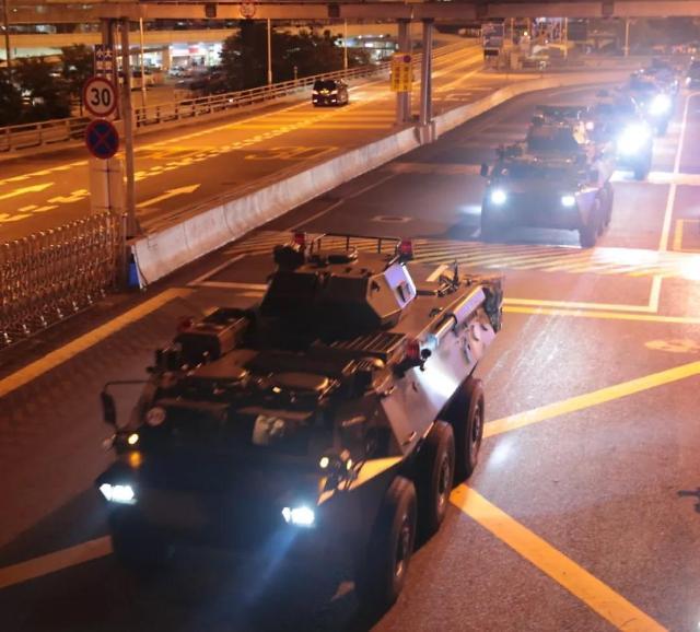 中 홍콩 주둔군 군사행동…연례행사 주장에도 긴장감 고조
