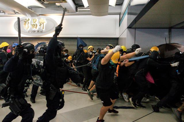 홍콩시위 주최 측 겨냥한 백색테러 발생