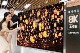 .​LG to release super high-definition 8K OLED TV model in U.S. and Europe.