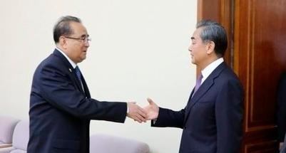 왕이 中외교부장 방북