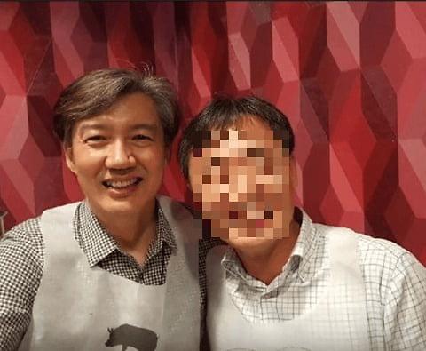 """조국 버닝썬 윤총경 셀카 해명…""""전체 회식 때 찍은 것"""""""
