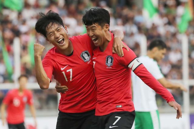 世预赛韩国2比0战胜土库曼斯坦