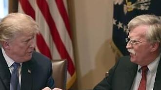 トランプ氏、ボルトン補佐官を更迭措置・・・対北朝鮮…