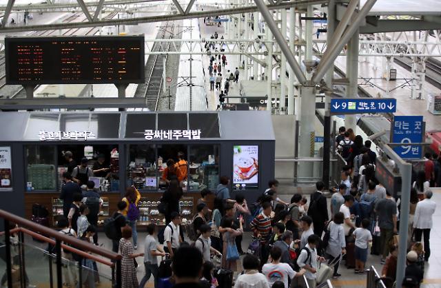 韩高速迎秋运去程高峰首尔到釜山要7个小时