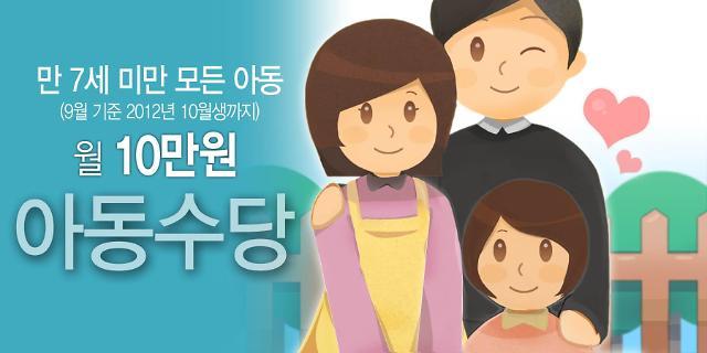 韩国扩大儿童津贴发放年龄范围