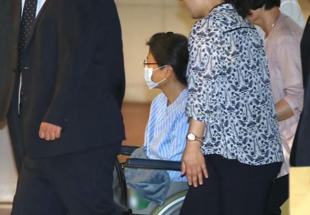 [포토] 어깨수술 병원도착한 박근혜 전 대통령