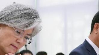 """강경화, 남북 정상 유엔총회 회동 가능성에 """"金 참석 조짐 전혀 없어"""""""
