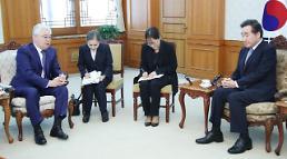 .韩国总理会见哈萨克斯坦外长.