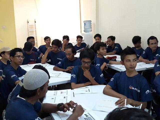 포스코건설, 인도네시아서 건설기능인력 양성교육센터 개설
