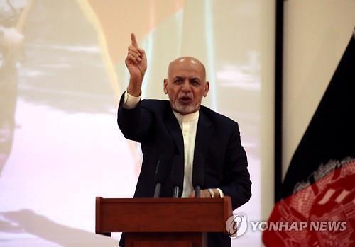 [글로벌포토] 아프간 대통령 유세현장서 자살폭탄 테러…최소 24명 사망