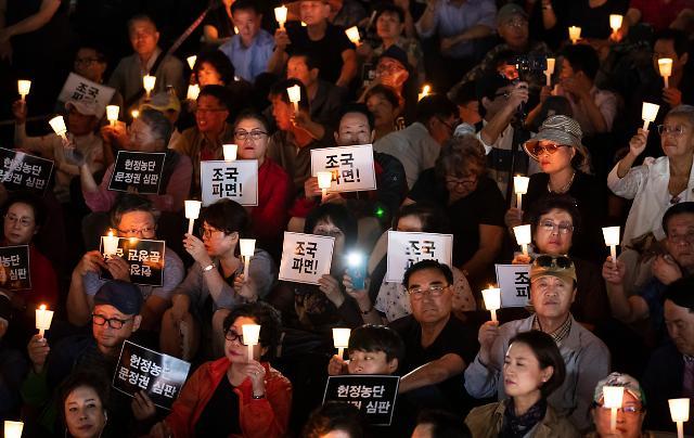 [포토] 조국 파면 촉구하는 참석자들