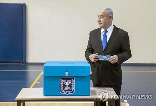 이스라엘 총선, 집권 리쿠드당-중도 청백당 초박빙