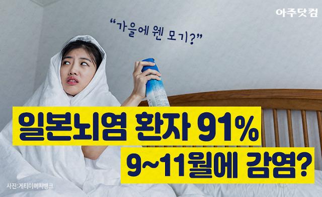 가을에 웬 모기? 일본뇌염 감염 91%는 9~11월, 예방법은? [카드뉴스]