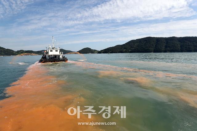 경남도, 적조 발생해역 남해 양식어류 긴급 방류