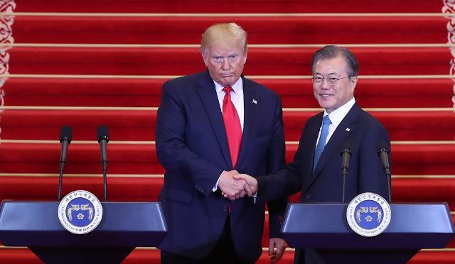 """文대통령, 23일 뉴욕서 트럼프 대통령과 회담…""""비핵화 협력 협의"""""""