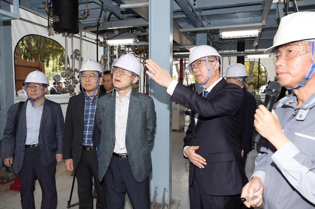 최기영 과기정통부 장관, 소재·부품·장비 연구개발 현장 방문