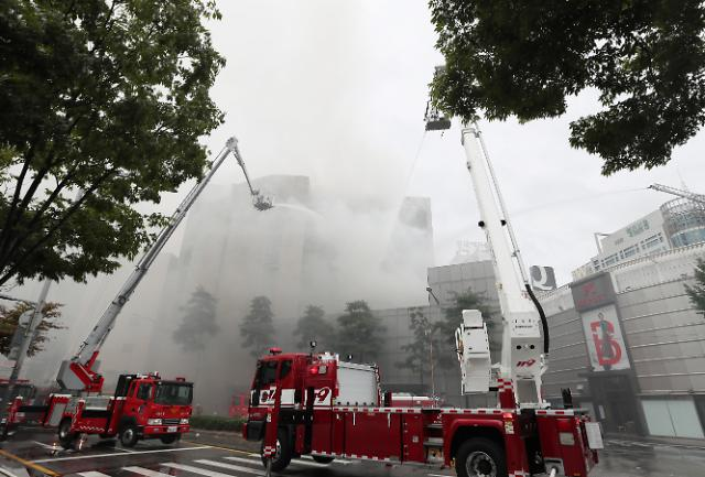 [포토] 동대문 제일평화시장서 화재 발생