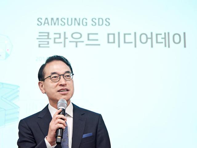 """홍원표 삼성SDS 대표 """"대외사업 비중, 올해 19%""""… 2조 달성 제시"""