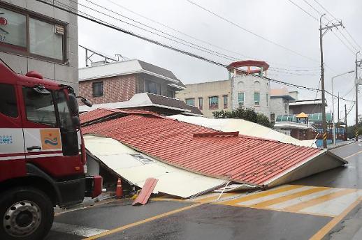 [슬라이드 화보] 제주, 남해안 할퀸 태풍 타파...강풍 침수 피해 속출