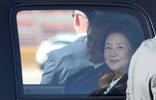 [포토] 뉴욕 도착한 문재인 대통령