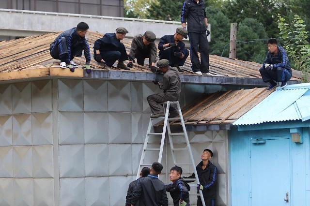 [포토] 남·북·유엔사, 판문점 JSA 건물 피해복구 공사