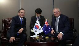 .韩澳举行首脑会谈 加强国防能源领域合作.