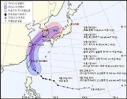 """.台风""""米娜""""或10月3日登陆韩国."""