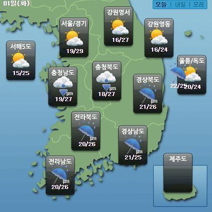 """[오늘의 날씨 예보] 18호 태풍 미탁 영향 """"남부·제주도, 폭우+강풍""""…제주공항 상황은?"""