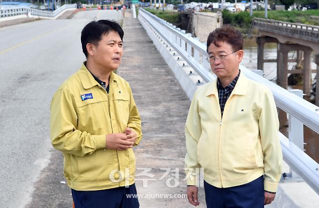 이철우 도지사, 태풍 '미탁' 피해 현장 긴급 방문