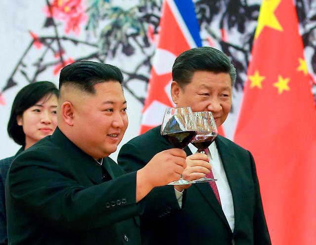 북중수교 70주년 시진핑·김정은 축전 교환 전통우호 강조