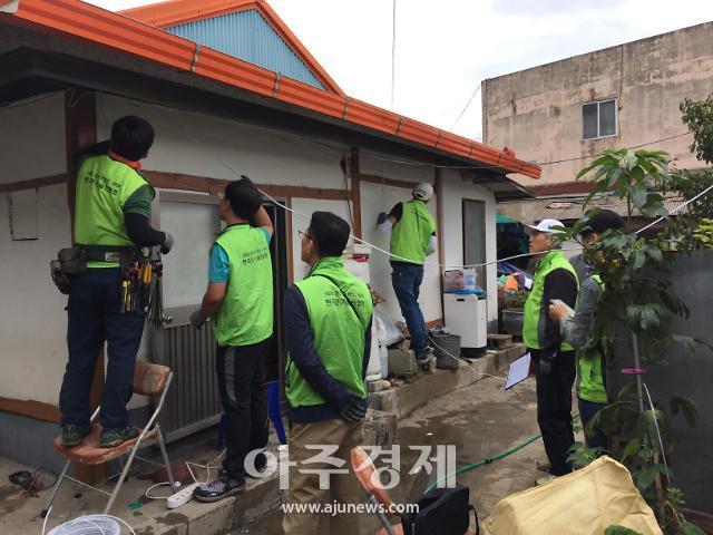 경북도, 태풍피해 주택에 전기시설 민·관 합동 응급복구 지원