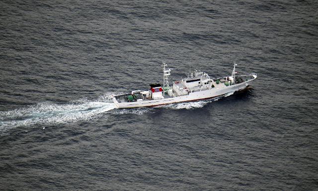 一朝鲜渔船与日本渔政船相撞沉没 全体船员获救