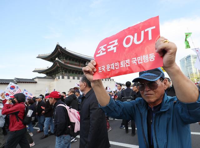 보수단체, 한글날 '文대통령‧조국 규탄' 집회