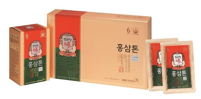 KGC인삼공사 '新홍삼톤골드·홍삼톤' 귀한 버섯 2배 담았다