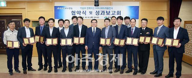 창원시, NC다이노스 포함 4개 기업 자원봉사 협약