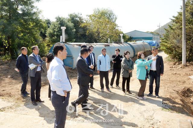 파주시의회 의원, 아프리카돼지열병[ASF] 매몰지 방문