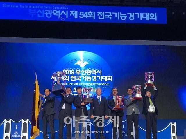 경기도, 제54회 전국기능경기대회 종합우승 탈환,