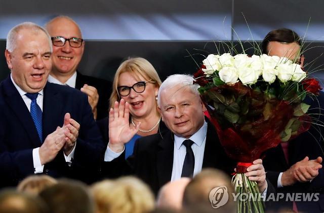 폴란드 총선, 출구조사서 현 집권당 승리 확실시