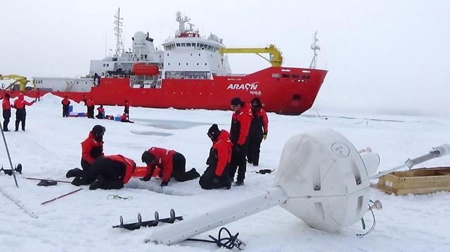 극지연구소,북극해'지구온난화의 시한폭탄'광역 탐사 성공
