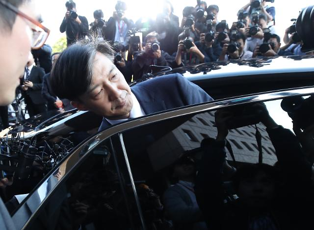 [포토] 법무부 떠나는 조국 장관