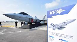 .S. Korea unveils actual model of home-made KF-X fighter jet.