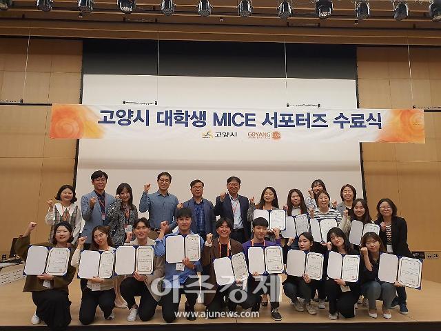 고양시, 대학생 MICE 서포터즈 3기 수료식 개최