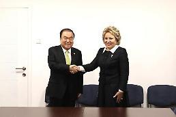 .韩国国会议长吁俄罗斯为朝鲜无核化发挥作用.