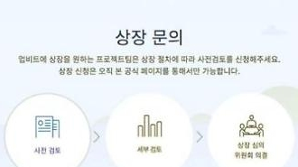업비트, 암호화폐 상장위한 /'/사전 검토/'/ 공식 채널 오픈